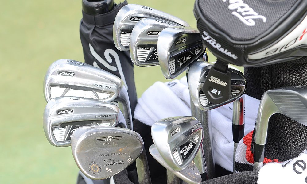 Steve Stricker is playing Titleist AP2 710 irons.