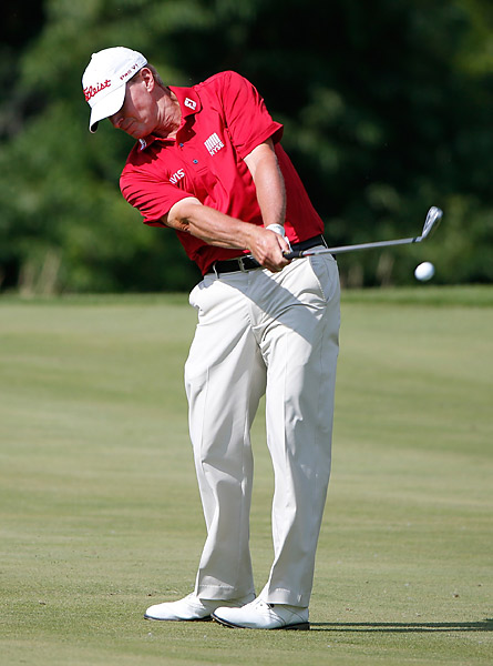 Three-time John Deere champion Steve Stricker shot a 68.