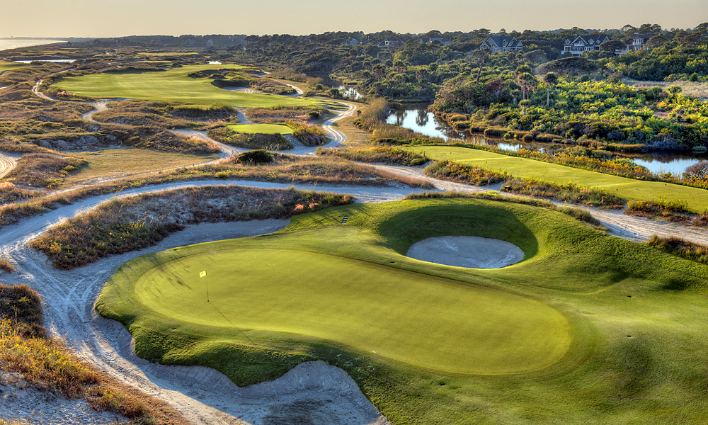 "Hole 10, 447 yards, Par 4                       The back nine starts atop a sand dune, where golfers tee off toward a generous fairway. ""The better players will hit driver and short irons and feel they ought to birdie it,"" says Dye."