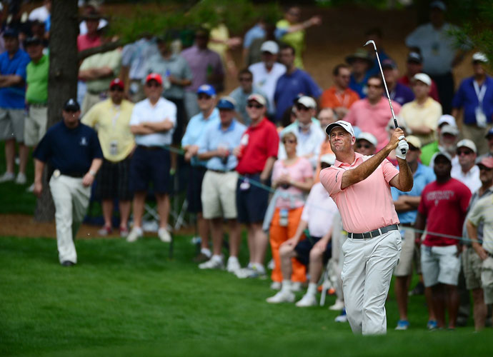 Stewark Cink was two shots back of leader Angel Cabrera after a first-round 68.