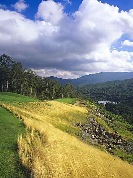 Stowe Mountain Club                           Stowe, Vt.                           6,411 yards, par 72                           Green fees: $175-$250                           802-253-3564, stowemountainclub.com                           Golfers with egos                           bigger than their                           drives might scoff at the                           total yardage at Stowe                           Mountain Club: just                           6,411 yards. If that's you,                           let your eyes wander over                           to the fearsome slope of                           141 as testament to the                           strength of architect Bob                           Cupp's pint-sized                           shotmaker's delight at                           the Stowe Mountain                           Resort. The course basks                           in postcard views of Mt.                           Mansfield, Vermont's                           highest point, but the                           off-course vistas are                           exceeded only by the                           on-course challenges.                           Among them: the                           muscular 252-yard                           par-3 4th, which sports                           rock-wall tee boxes, a                           mountain stream and a                           greenside bunker that                           will catch even a slight                           push. The flatter back                           nine features a trio of                           holes that tangle with                           Peregrine Lake.
