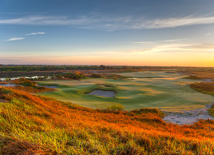 The Tom Doak-designed Streamsong (Blue) in Florida.
