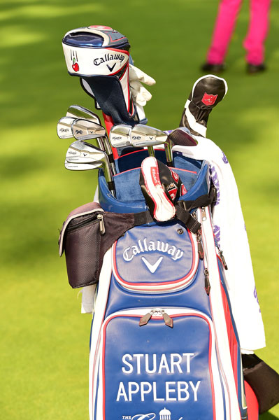 Tour vet Stuart Appleby goes old school with Callaway's forged RAZR X irons. It looks like he's got a Big Bertha Alpha driver as well.