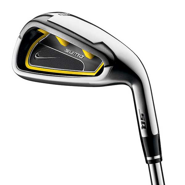 The short irons, like this 9-iron, also have a very wide sole and extreme perimeter weighting.