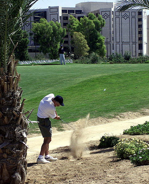Ebla Cham Palace Hotel, Syria: The golf course at the Ebla Cham Palace Hotel in the Syrian capital of Damascus remains open despite the widespread violence that has engulfed the country as open rebellion against President Bashar al-Assad has given way to civil war.