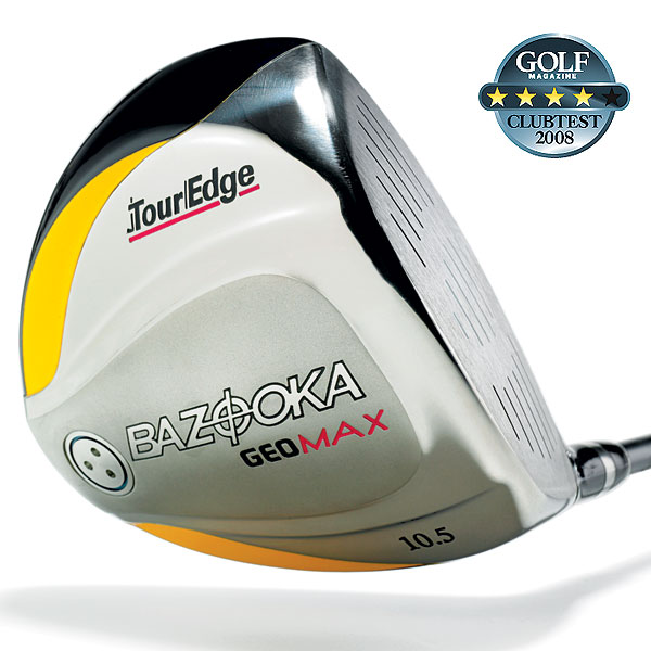 "Tour Edge Bazooka GeoMax                           $199, graphite                           touredgegolf.com                                                      We tested: 9°, 10.5°, 12°, 14°, 16° in Grafalloy GeoMax graphite shaft. Shaft length: 45""                                                      Company line: ""It features to-the-limit dimensions, for extreme forgiveness even on off-center hits, through a revolutionary geometric design. A 20-gram tungsten sole weight places the CG lower and deeper for a higher launch and unprecedented control.""                                                        Our Test Panel Says:                            PROS: This baby keeps it in play, close to the centerline; easy to swing but hits hard; highest spin rate and overall ball flight in the test, you'll have no trouble sending tee shots high in the air; just enough feedback to let you know when you miss it; midnight blue metallic finish is a hit with testers.                                                       CONS: High trajectory can cause slight distance lapse due to limited roll; clubhead is too light to feel all the way through the swing; even the stiff-flex shaft can be a little soft.                                                       ""Covers up mis-hits. This driver has a very good sense of direction."" — Mark Waldheim (12)                                                      Rate and Review this club"
