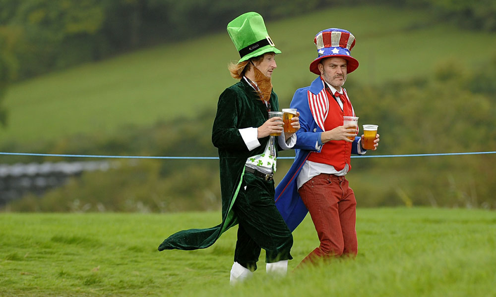 2010                       This leprechaun shared the long walk to the bar with Uncle Sam at Celtic Manor in 2010.