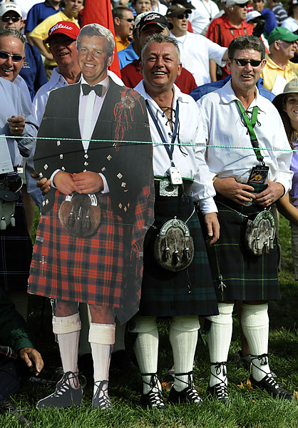 These Scots donned traditional regalia -- and even brought their own Monty -- to Kentucky for the '08 Cup.