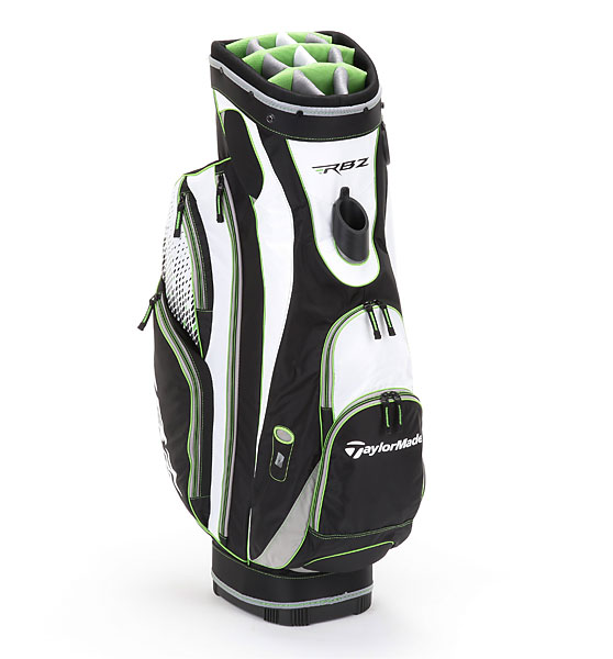 TaylorMade RBZ Cart, ($180; Buy it Now)                       The RBZ Cart packs a lot into its 5.2-pound frame. A 14-way stadium top features individual full-length dividers, while eight pockets include a velour-lined valuables pocket with an internal key-ring clip and accordion-style expandable side pockets to make storage a snap.