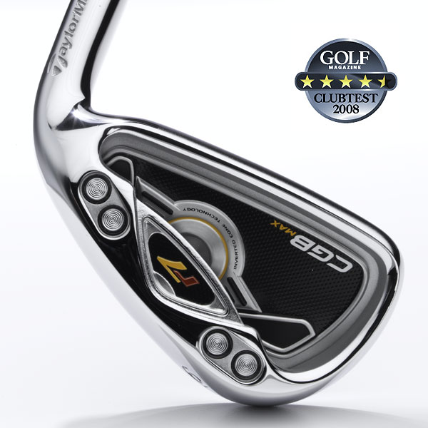 "TaylorMade r7 CGB Max                            $1,099, steel; $1,299, graphite                                                                                  We tested: 4-PW in REAX SuperFast Black Steel 90 steel shaft. Shaft length/loft (6-iron): 37.25""/26°                                                       Company line: ""The large head employs tungsten weights for greater stability. Our 'inverted cone technology' promotes higher ball velocity on off-center hits for greater distance. Hollow topline contributes to easy launch and towering, distance-enhancing flight.""                                                       Voted Best for Feel                                                      Our Test Panel Says:                            PROS: A great overall performer; excellent distance from any situation; goes where you want it and forgives all but the worst sins; repeatable high flight; easy escapes from rough; sweet, pured feel on good hits plus enough feedback (but not harsh) on misses; two thumbs up for cosmetics, due to masculine profile, satin topline and shiny finish.                            CONS: Minor complaints only: hard to stop shots from downhill lies; less draw-bias than many others could be trouble for chronic slicers.                                                       ""Forgiving and forceful at the same time."" — Roger Liau (20)                                                      Rate and Review this club"