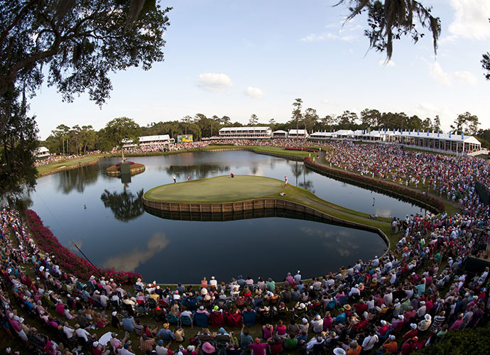 TPC Sawgrass (Players Stadium), Ponte Vedra Beach, Fla., Hole 17, 137 yards, par 3: There isn't a par-3 anywhere that induces sweaty palms and an accelerated heart rate better than the 17th at TPC Sawgrass. It's only a 9-iron from the tips, but to hit and hold its apple-shaped island green requires perfect distance and trajectory -- and maybe a little help from above.