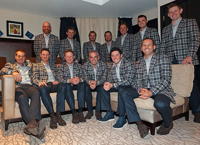 The European Ryder Cup Team in the Tartan.