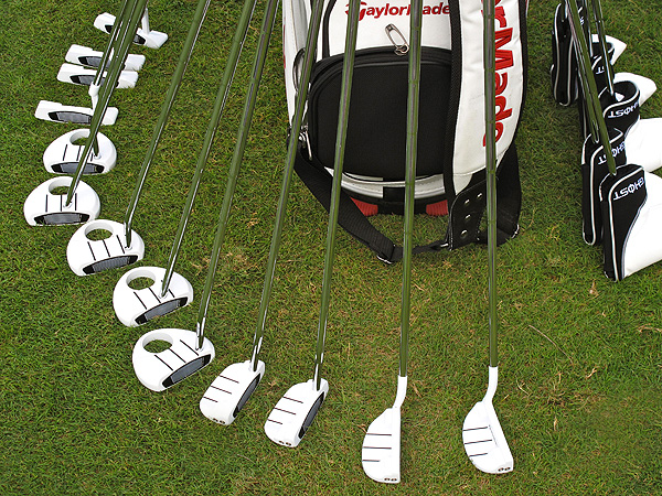 There was nothing spooky about the TaylorMade Ghost putters on the practice green.