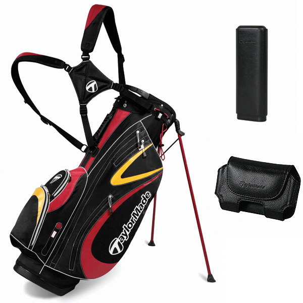 ($149.99)weighs a scant 4.5 pounds and has six sections to hold your clubs. What makes it special are accessory holders can be purchased separately for things like your rangefinder, PDA, cigars or iPhone, then easily attached to the bag using a unique snapping system. This way the most important things in your bag are never out of reach.                        More information at tmaxgear.com