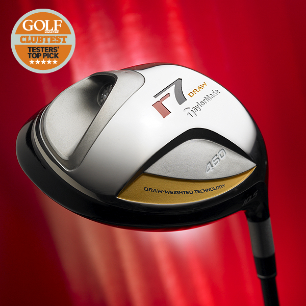 """Winners from the 2007 ClubTest                           Here are our ClubTesters' top picks from this year's ClubTest                           WINNER: Drivers                           TaylorMade r7 Draw                           $299, graphite; taylormadegolf.com                                                      We tested: 9°, 10.5°, HT in Fujikura                           ReAx 55 graphite shaft                                                      Company line: """"Draw weighted                           technology concentrates weight in the                           back heel area. This encourages faster                           clubface rotation through impact                           and promotes straight shots for                           slicers. The 460 cc head and """"inverted                           cone' technology provide maximum                           forgiveness on off-center hits.""""                                                      Our Test Panel says: Does exactly                           what it promises; draw-bias design                           produces penetrating, repeatable                           draws, but it doesn't go overboard by                           appearing to set up left; long and                           predictable; sturdy and stable from                           start to finish, but not for hardswinging                           right-to-left guys.                                                      Another great                           TaylorMade driver.—Brian Robbins, 18 Handicap                                                                                 • Video: ClubTesters talk about TaylorMade r7 Draw driver.                           • Read more reviews and tell us what you think                           • Find your next driver with our Hot Stix fitting                           • ClubTest 2007: Your guide to the finest new clubs"""