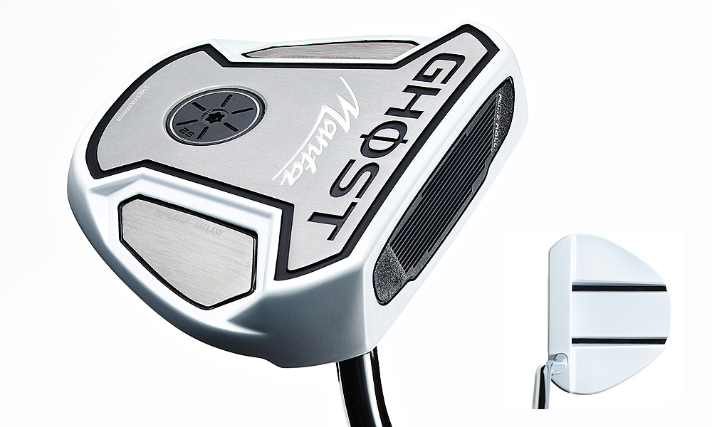 TaylorMade Ghost Manza Belly Putter                           Price: $200                           Lengths: 38 to 46 inches                            Insight: The 380-gram aluminum head has a pair of tungsten sole weights, two bold black lines to aid alignment, and 2.5° loft. ClubTest 2012 Review: TaylorMade Ghost Manta                           Fitting tool: The telescopic tool (available at 3,000 retailers) fits for 39- to 46-inch lengths in 0.25-inch increments. Grip length options are 15, 17, and 21 inches. (A removable sole plug allows you to test various head weights.)