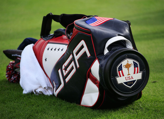 A United States team bag. See more Ryder Cup equipment on our equipment page.