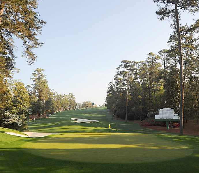 The 10th hole at Augusta National Monday morning.