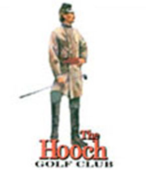 What's the hold up? Perhaps he's stuck behind the fella representing The Hooch Golf Club in Duluth, Ga. Play away, corporal!