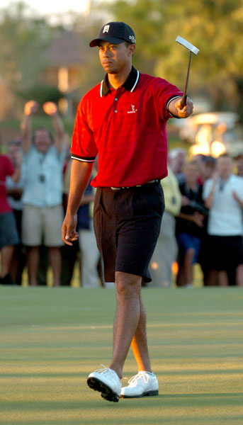 Tiger Woods at the 2005 Tavistock Cup.