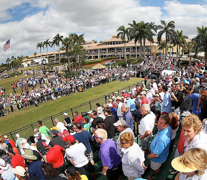 All eyes were on Woods on the opening tee in the final round at Doral. He went on to win his second title of the season while having one of the best putting weeks of his career -- 100 total putts in four rounds.