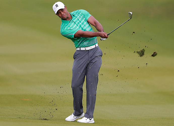 Woods carried a one-shot lead onto the 12th, but McIlroy caught him on 14 and overtook him when Woods bogeyed 17.