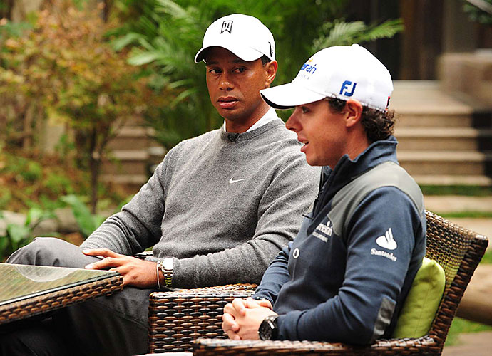 The Tiger Woods-Rory McIlroy matchup at Mission Hills' Blackstone course on Oct. 28 (Oct. 27 in the U.S.) is only the second time the two have squared off head-to-head in competition.