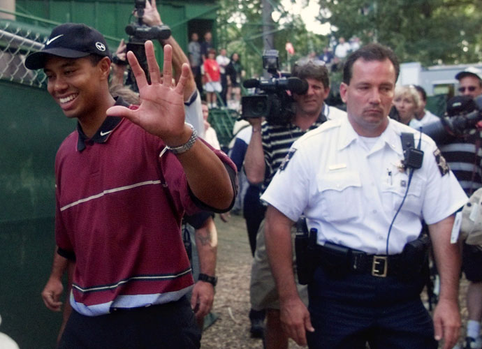 Tiger got the last laugh in 1999, finishing at 11-under to beat Sergio by a stroke at Medinah Country Club.