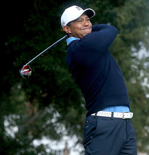 Tiger Woods opened the tournament with a one-under 71 on Thursday.