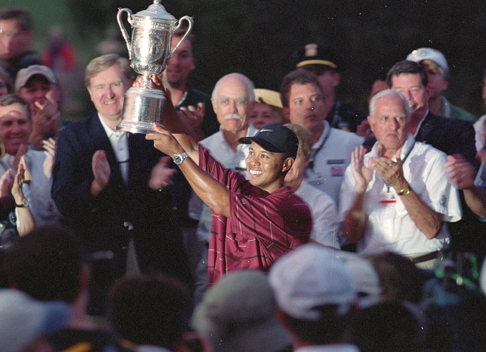 Tiger again had the last laugh, capturing the 102nd U.S. Open by three shots over Phil Mickelson and six over Sergio.