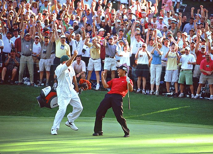 3.	Tiger Woods, 2005                                   Six PGA Tour wins, including two majors, one a thrilling Masters duel against Chris DiMarco, the other a five-shot romp at St. Andrews at the Open made 2005 another standout year.