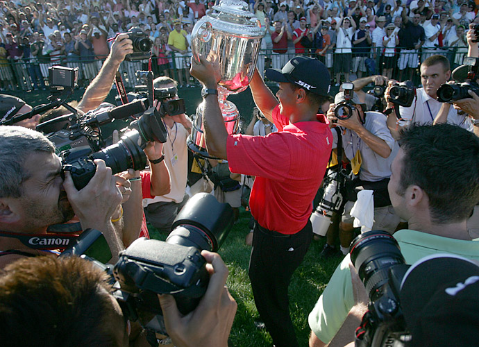 Woods ran away from the field -- runner-up Shaun Micheel was five shots behind -- two win the 2006 PGA at Medinah. It was Woods' second PGA Championship victory at Medinah. He also won his first there in 1999.