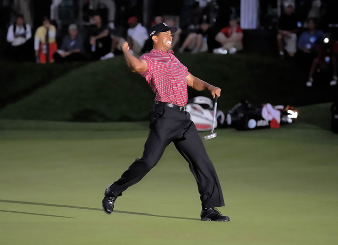 "2009 | Comeback                                   Woods loses 4 and 2 to Tim Clark in the second round of the WGC-Accenture Match Play. ""Tim is a wonderful player,"" Woods says after his first action in eight months. ""He made birdies and I just didn't answer him."" All is not lost; Woods wins the Arnold Palmer Invitational at Bay Hill (left) 28 days later."