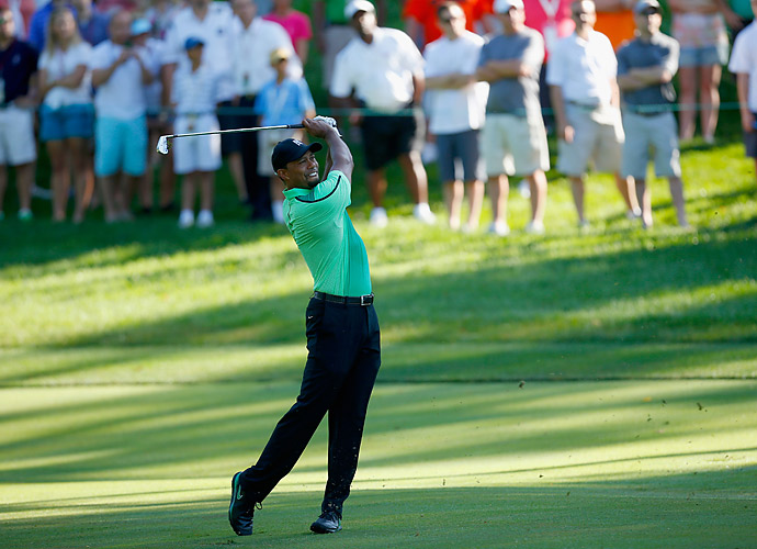 Tiger Woods made his return to the PGA Tour Thursday at the Quicken Loans National at Congressional. The tournament supports Woods' foundation.