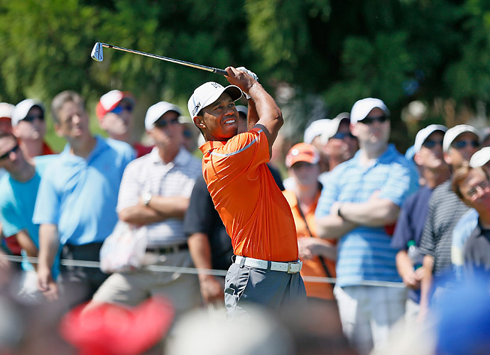 Thursday                       Tiger Woods struggled to a 73 in the first round at East Lake.
