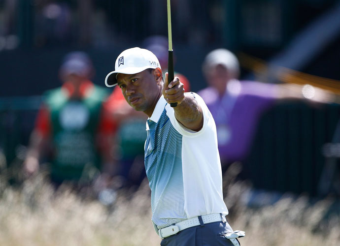 Tiger Woods bogeyed his first two holes before rallying for six birdies the rest of the way, including five on the back nine, to shoot a 3-under 69. He was three shots back of early leader Rory McIlroy, who shot 66.