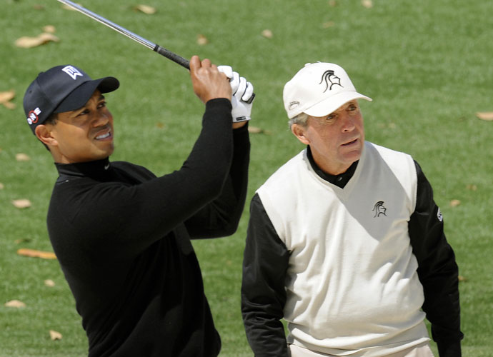 """I would love to sit down with him for one hour and give him a piece of my knowledge … Then I think he could win majors.""                       —Gary Player on his desire to talk to Tiger Woods about his recent struggles on the course."
