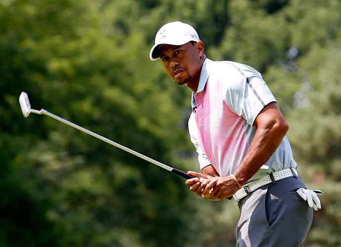 In all, Woods had six birdies, two bogeys, and a double bogey.