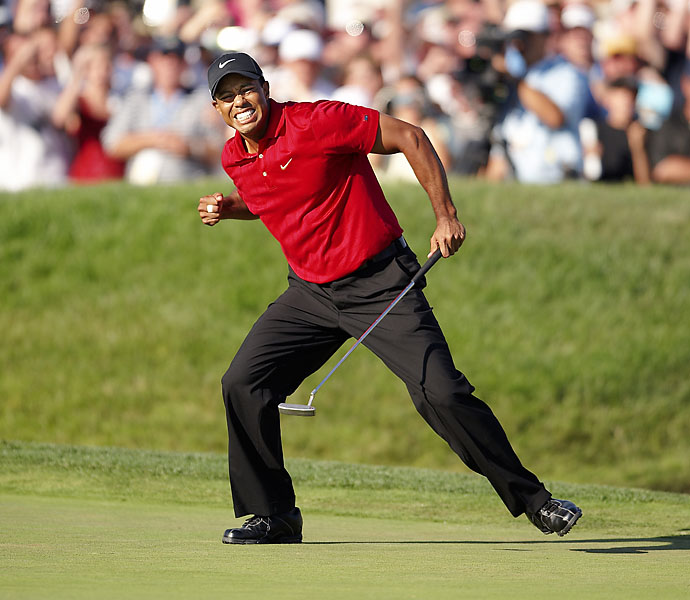 No. 1: Tiger Woods                             Playing Career: 1996-                             According to our voters, consider yourself lucky — for the past 17 Tour seasons you've been paying witness to the greatest putter of all time, Tiger Woods. As you sit, you can probably peel off half a dozen highlight-reel putts Tiger has made in his career: The finger-pointing bomb at Valhalla on the first playoff hole against Bob May at the 2000 PGA Championship; the double-fist-pumping birdie on the 72nd hole of the 2008 U.S. Open to force a Monday playoff against Rocco Mediate; the hat-throwing downhill slider to snatch the 2008 Bay Hill Invitational from Bart Bryant; or the original-Tiger-fist-pump-inducing 14-footer on the island green at TPC Sawgrass to finish off his improbable comeback against Trip Kuehne at the 1994 U.S. Amateur. You can bet there's more to come.