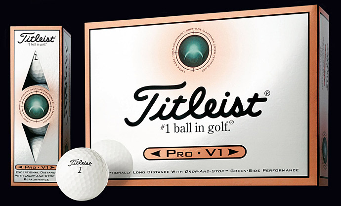 2000: TITLEIST PRO V1 BALL                           Titleist introduces the Pro V1 in October, and Billy Andrade wins with one before year's end. Soon the Pro V1 is the most popular ball on Tour [Pro V1 and Pro V1x remain on top of the ball game today].