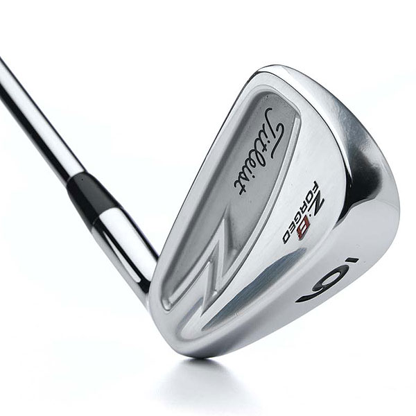 Titleist ZB Forged                       $899, steel                       titleistgolf.com                       Construction: Forged from 1025 carbon steel                       Finish: Bright chrome plating                                              • This set combines irons with full cavitybacks (2- to 4-iron) to get the ball up, partial cavities (5- to 7-iron), and full blades (8-iron to PW) for added control.                        • The distinctive 'Z-cavity' pushes weight toward the toe, to locate the CG in the center of the face. The result is consistent ball speed, launch, spin and feel.                        • Dual hosel lengths — longest in the short irons, shorter in the mid- and long irons — move the center of gravity (CG) up or down, to manage ball flight.