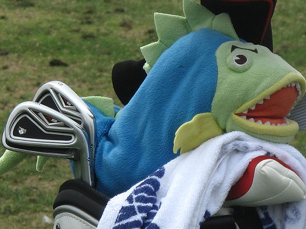 Todd Fischer has a fish guarding his TaylorMade R9 TP irons.