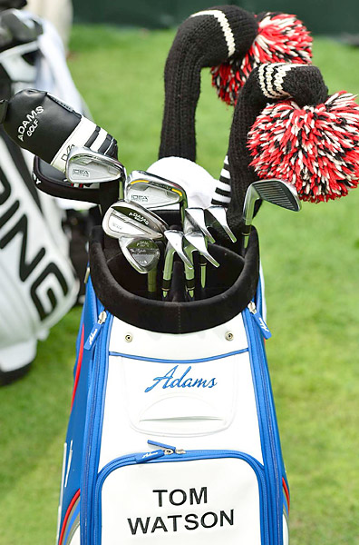 Eight-time major champion Tom Watson uses a mix of different Adams irons.