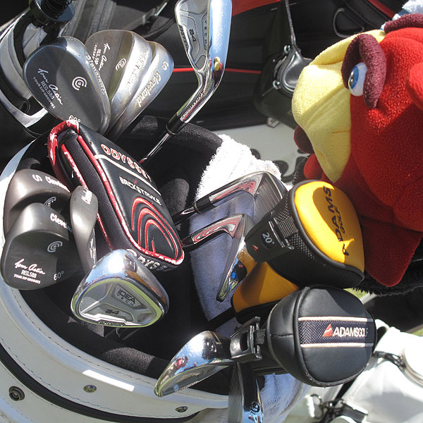 Tommy Gainey had six Cleveland 588 wedges in his bag before the start of his practice round Wednesday.