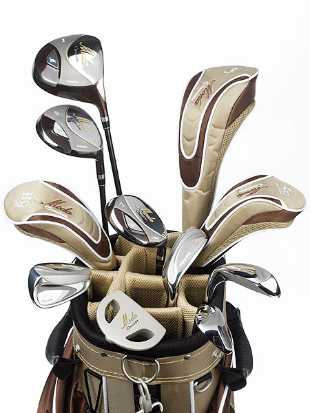 "$599, graphite                       touredge.com                        David Glod, President and Founder:  ""We wanted to make something truly lady specific, from the ultra-light graphite shafts to lofts, head sizes and the proper technology for each club, down to elegant gold accents on the matching bag and head covers.""                        How it works: The 11-club set includes a driver (460 cc), pair of fairway woods (3 and 5), three hybrids (5, 6 and 7), four irons (8 iron to SW) and mallet putter. Fairway woods have a heavy sole (low CG) for longer, higher flying shots. Chrome-and-satin irons have a deep, forgiving ""undercut"" cavity to help get the ball up."