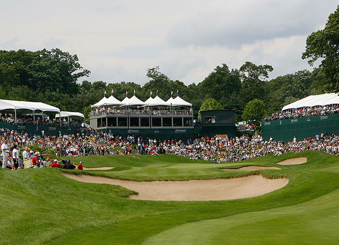 Hartford, Conn.                           By nearly every estimate, the second largest galleries in golf are at the Travelers Championship, played in suburban Hartford, at the TPC River Highlands in Cromwell. Mind you, Hartford is hardly the PGA Tour's largest market. However, pair the 60-year tradition of civic pride with a spectator-friendly Pete Dye design with exciting risk/reward holes down the stretch and you have an unparalleled atmosphere.
