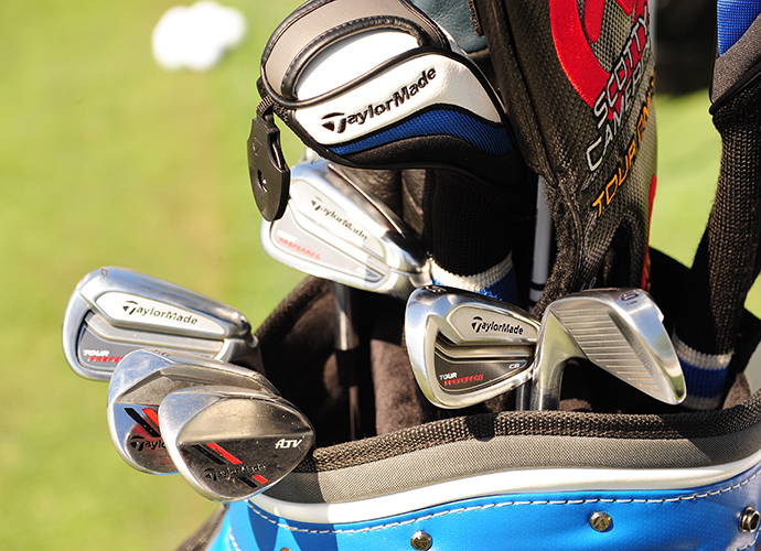 Trevor Immelman's Taylor Made Tour Preferred CB irons.Trevor Immelman's TaylorMade Tour Preferred CB irons.