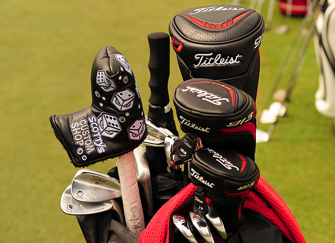 South African Tyrone Van Aswegen is a high roller as illustrated by his Scotty Cameron Custom Shop headcover. He's also carrying Titleist AP2 irons and custom-stamped Vokey SM5 F Grind wedges.