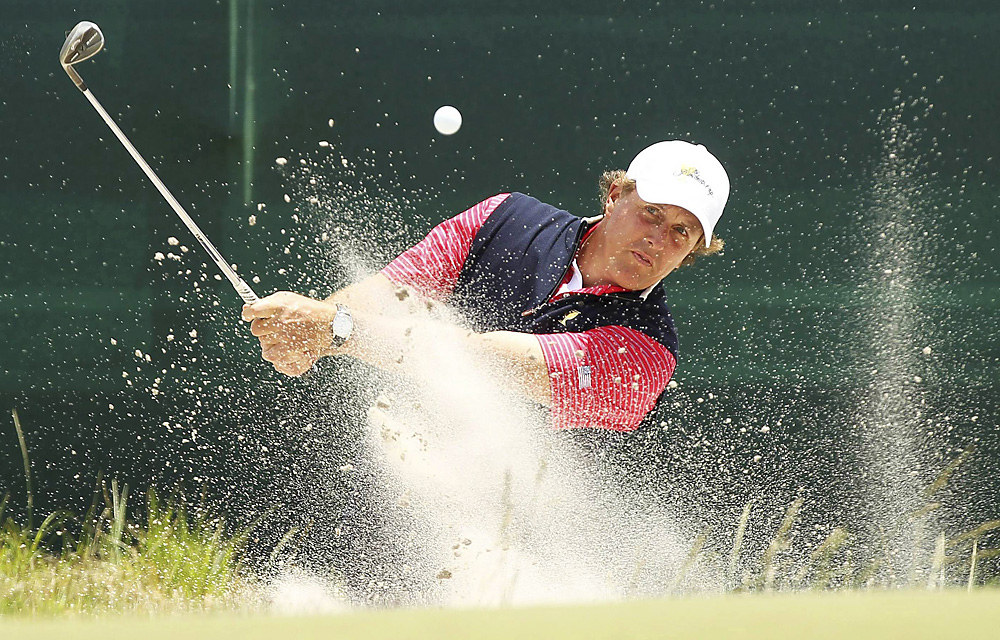 Phil Mickelson fell to Adam Scott in singles, but it was his only loss of the week. He finished 3-1.