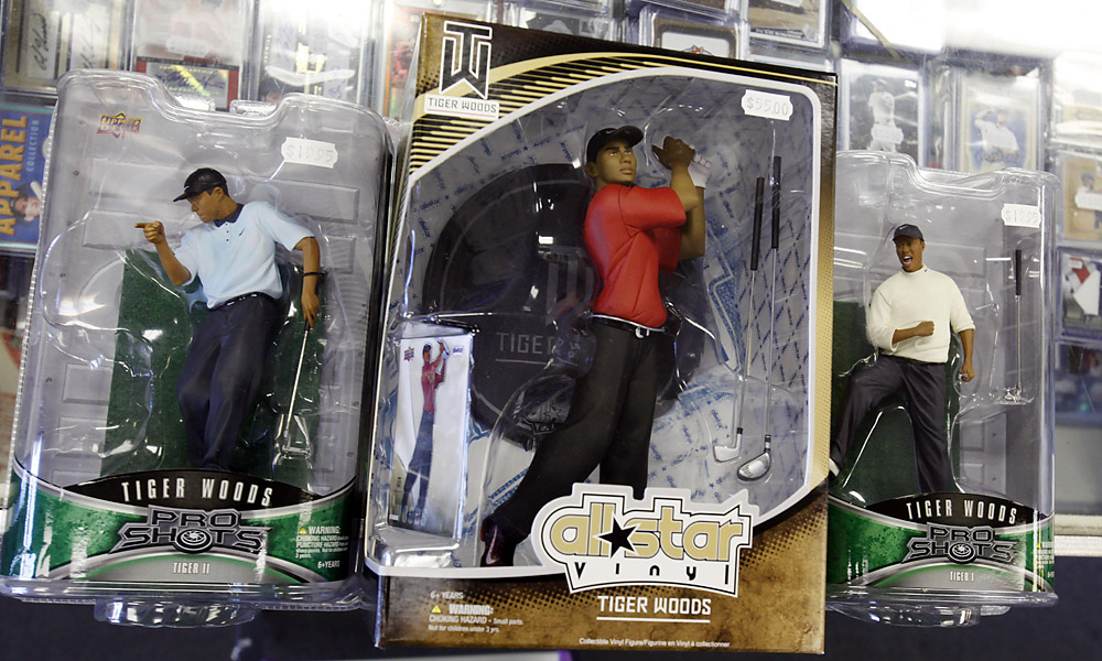 Upper Deck                           The trading card and memorabilia company continues to produce and sell Woods collectables, ranging from cards and figurines to autographed items.